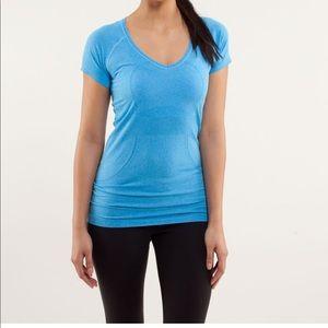 Lululemon Run: Swiftly Tech V neck shirt sleeve 4